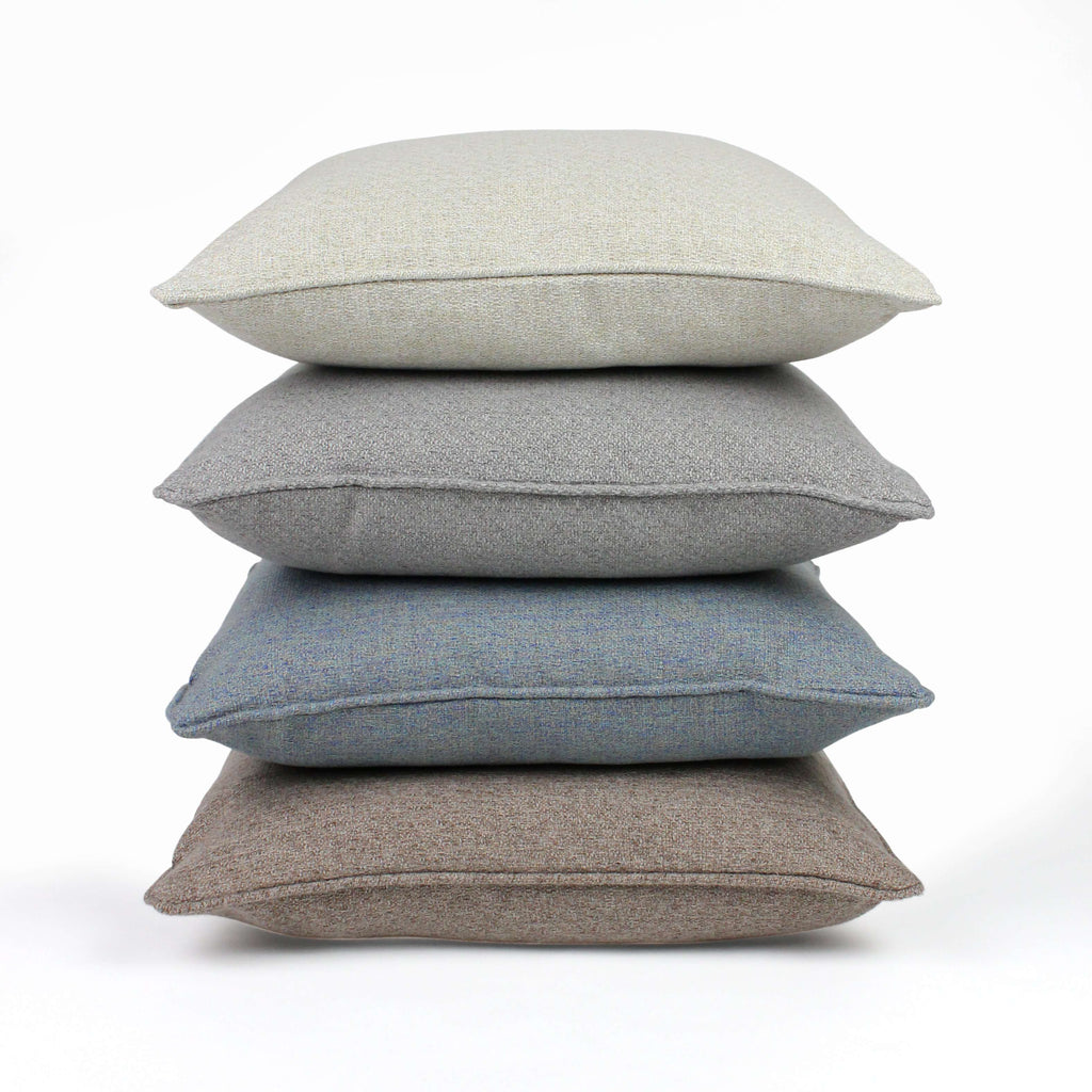 McAlister Textiles Highlands Taupe Textured Plain Cushion Cushions and Covers