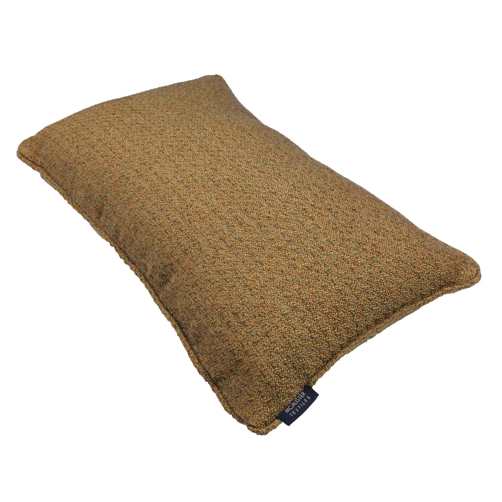 McAlister Textiles Highlands Ochre Textured Plain Cushion Cushions and Covers