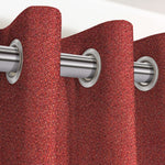 "Carica l'immagine nel visualizzatore di Gallery, McAlister Textiles Highlands Textured Plain Red Curtains Tailored Curtains 116cm(w) x 137cm(d) (46"" x 54"")"
