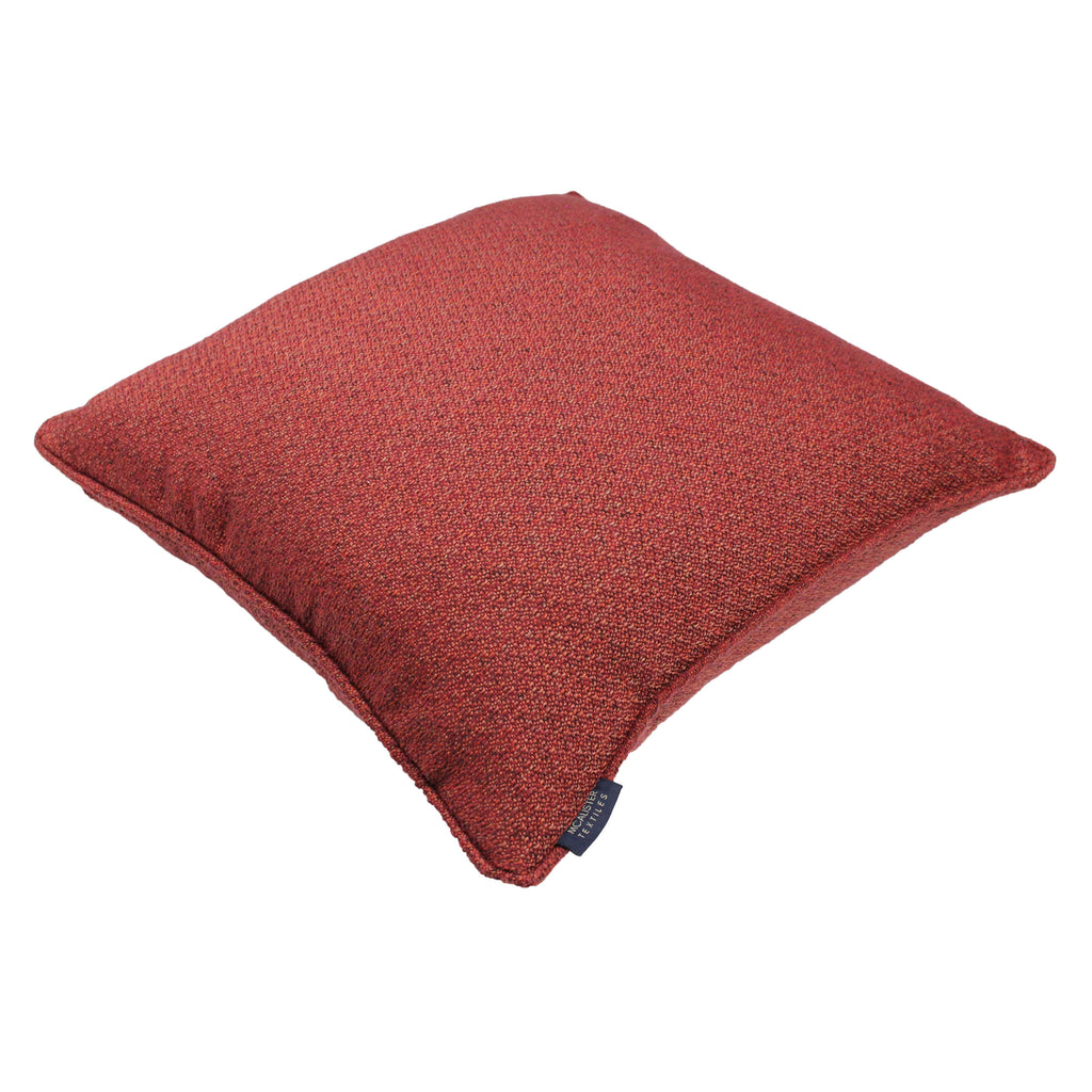 McAlister Textiles Highlands Red Textured Plain Cushion Cushions and Covers