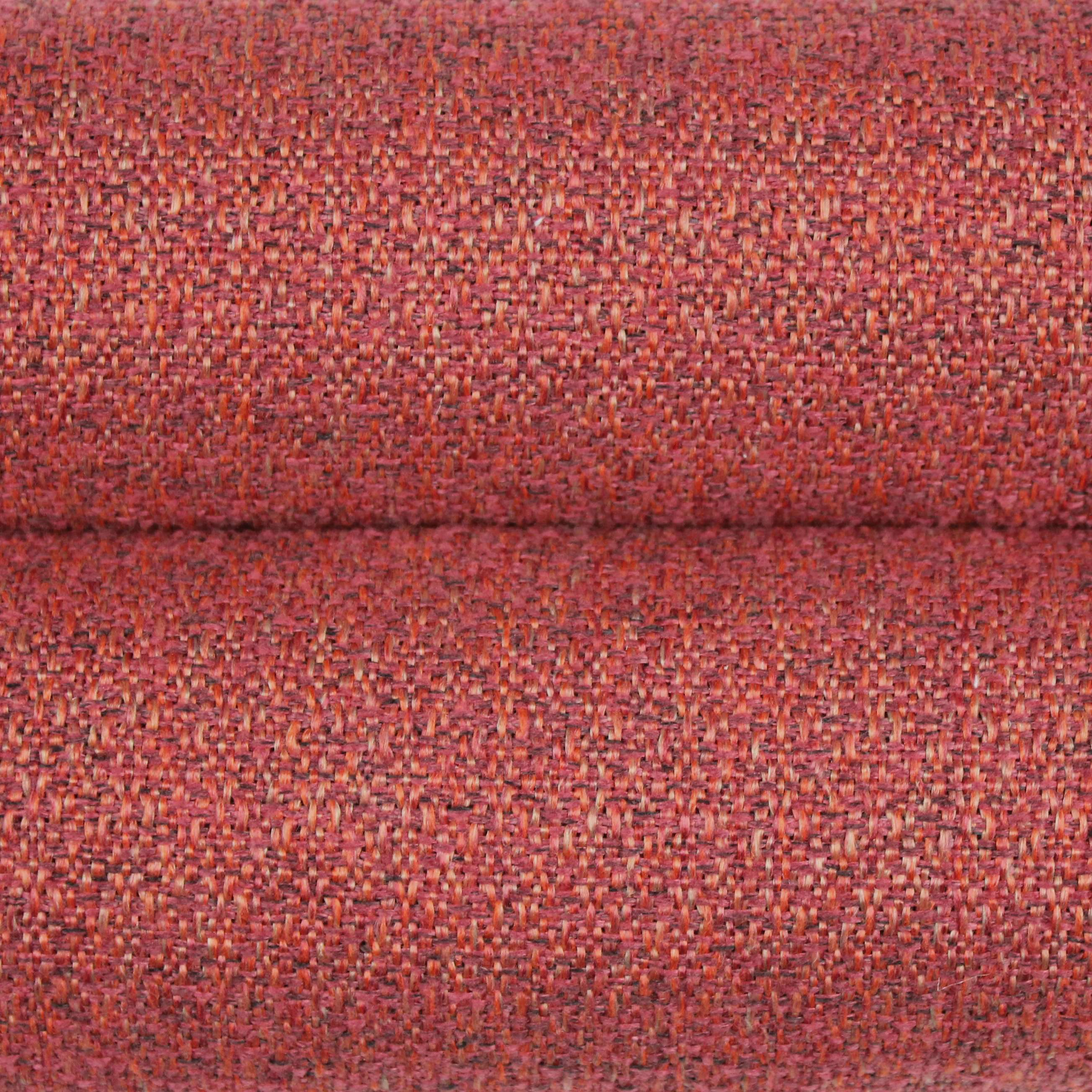 McAlister Textiles Highlands Textured Plain Red Curtains Tailored Curtains