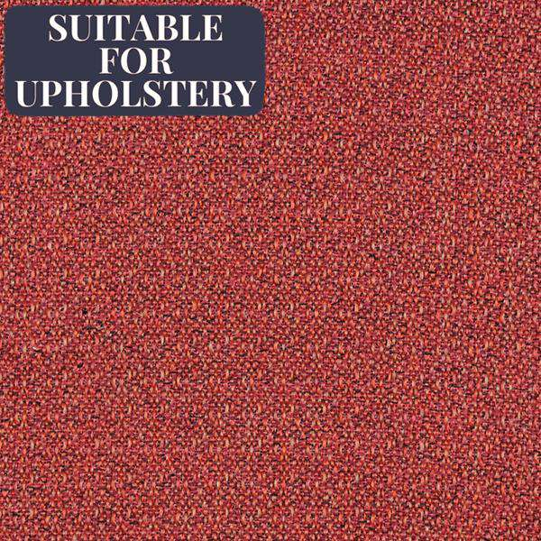 McAlister Textiles Highlands Rustic Plain Red Fabric Fabrics