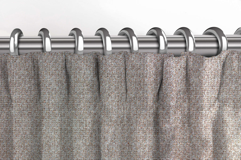 McAlister Textiles Highlands Textured Plain Taupe Curtains Tailored Curtains