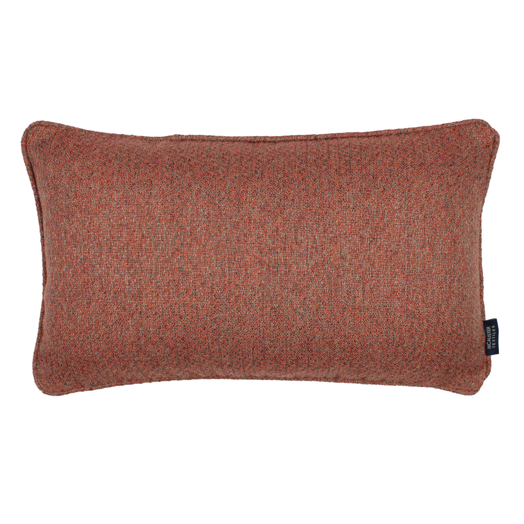 McAlister Textiles Highlands Terracotta Textured Plain Cushion Cushions and Covers Cover Only 50cm x 30cm