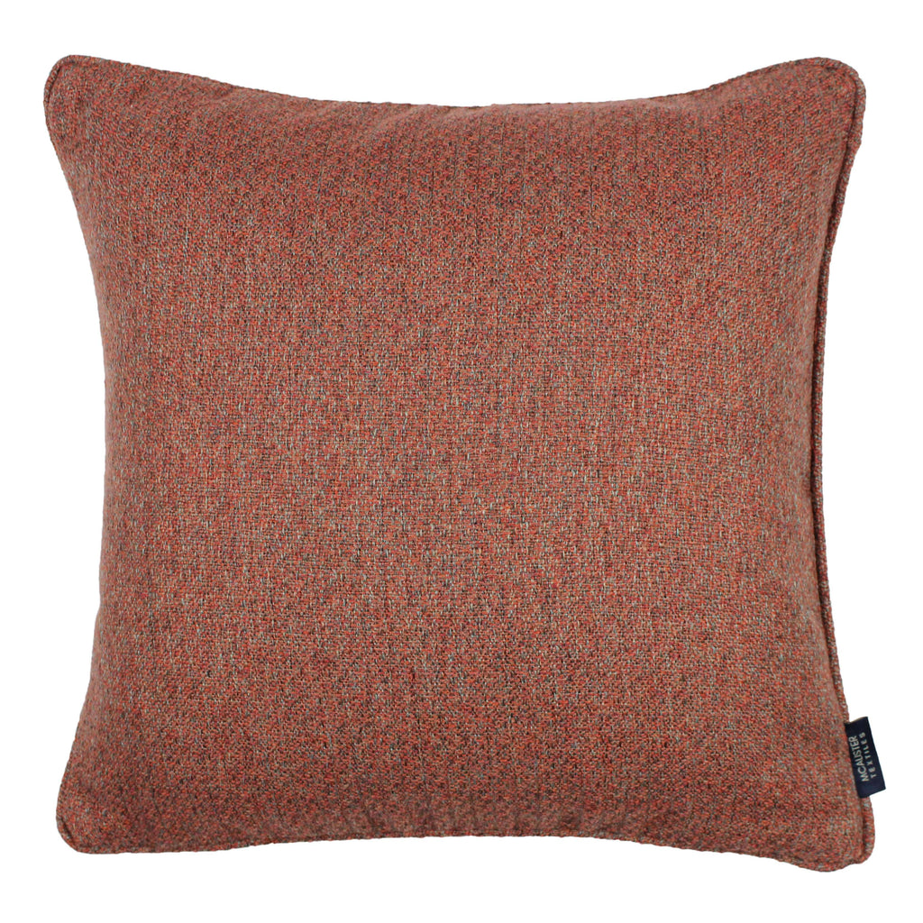 McAlister Textiles Highlands Terracotta Textured Plain Cushion Cushions and Covers Cover Only 49cm x 49cm