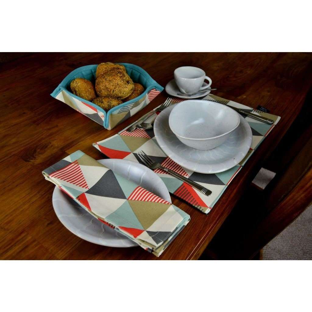 McAlister Textiles Vita Burnt Orange Cotton Napkin Set Kitchen Accessories