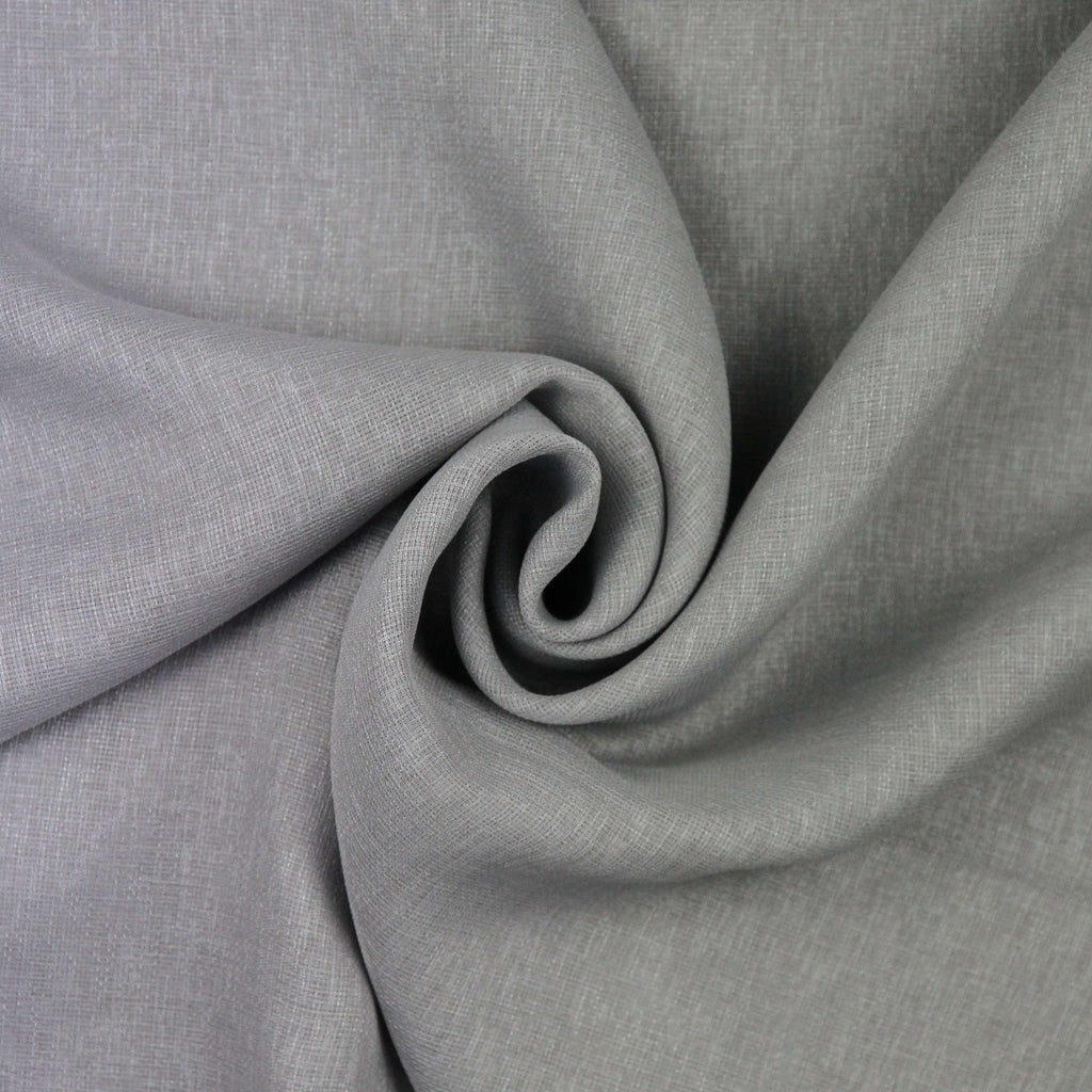McAlister Textiles Momentum Voile Silver Grey Curtain Fabric Fabrics 1 Metre
