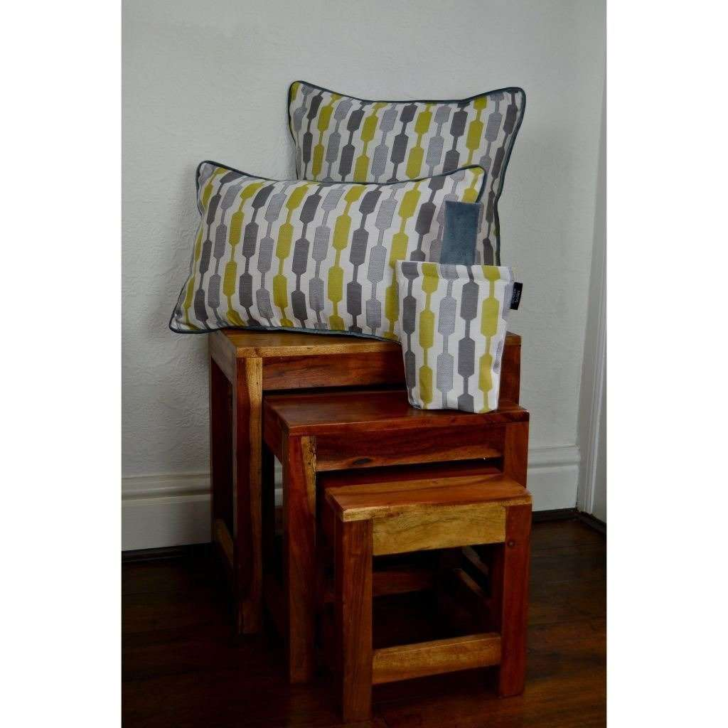 McAlister Textiles Lotta Ochre Yellow + Grey Pillow Pillow