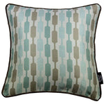 Carica l'immagine nel visualizzatore di Gallery, McAlister Textiles Lotta Duck Egg Blue + Brown Cushion Cushions and Covers Cover Only 43cm x 43cm