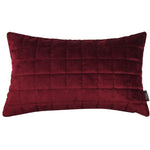Carica l'immagine nel visualizzatore di Gallery, McAlister Textiles Square Quilted Wine Red Velvet Cushion Cushions and Covers Cover Only 50cm x 30cm
