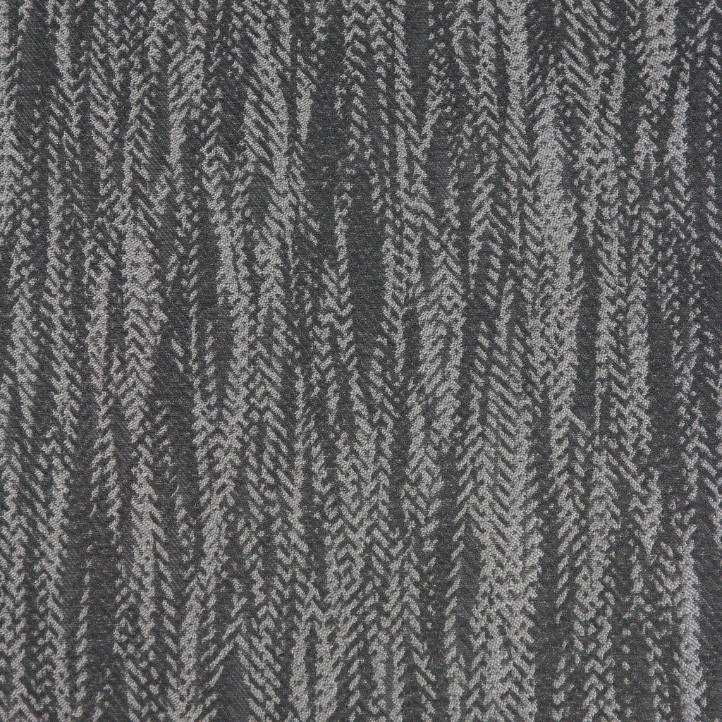 McAlister Textiles Lorne Fire Resistant Contract Fabric - Charcoal Grey-Fabrics-