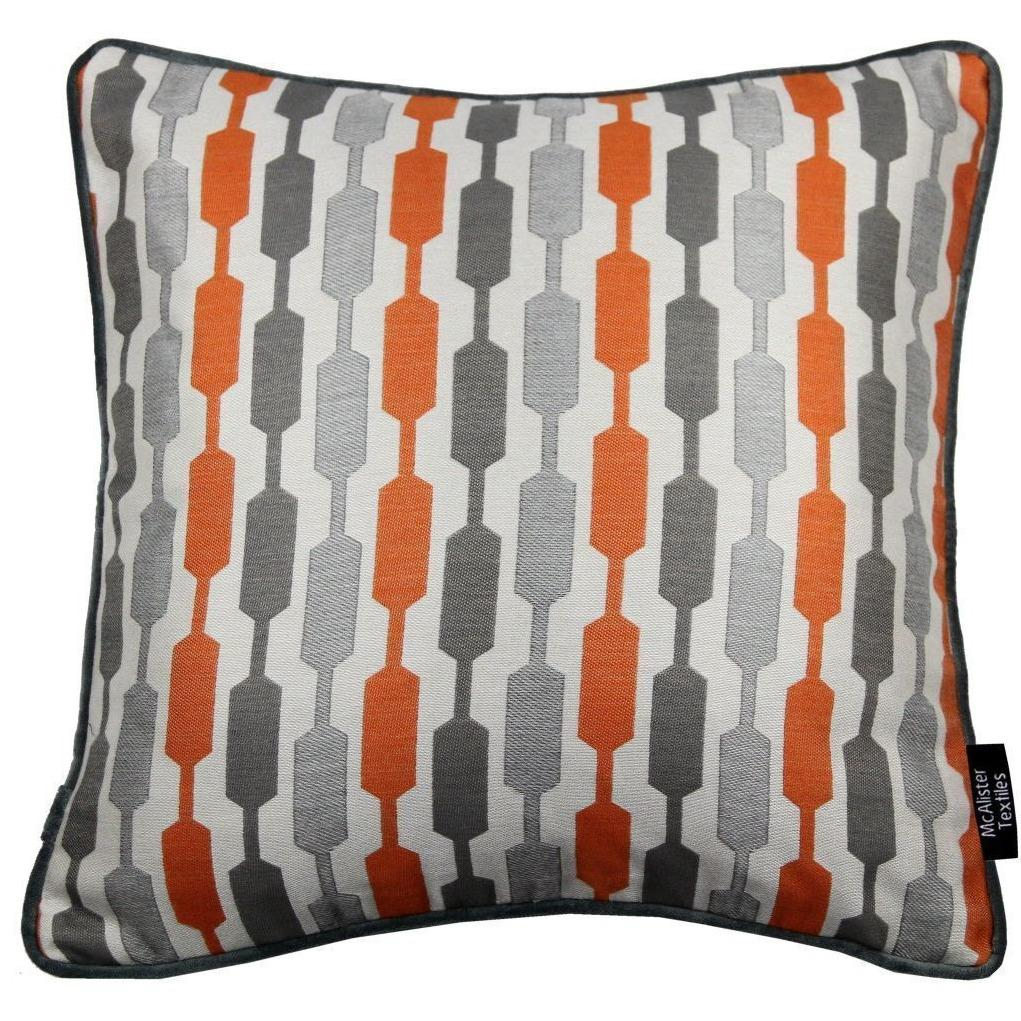 McAlister Textiles Lotta Burnt Orange + Grey Pillow Pillow