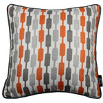 Load image into Gallery viewer, McAlister Textiles Lotta Burnt Orange + Grey Pillow Pillow Cover Only 43cm x 43cm