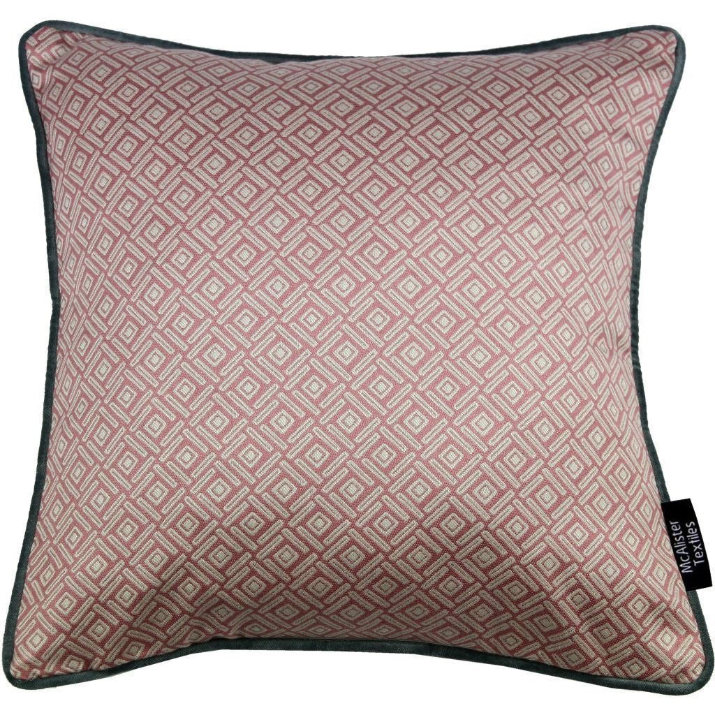 McAlister Textiles Elva Geometric Blush Pink Cushion Cushions and Covers Cover Only 43cm x 43cm