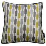 Load image into Gallery viewer, McAlister Textiles Lotta Ochre Yellow + Grey Pillow Pillow Cover Only 43cm x 43cm