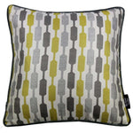 Load image into Gallery viewer, McAlister Textiles Lotta Ochre Yellow + Grey Cushion Cushions and Covers Cover Only 43cm x 43cm