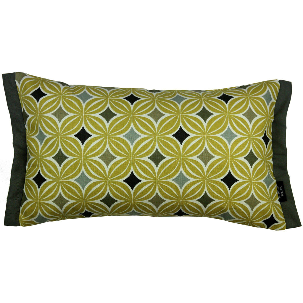 McAlister Textiles Laila Cotton Print Ochre Yellow Pillow Pillow Cover Only 50cm x 30cm
