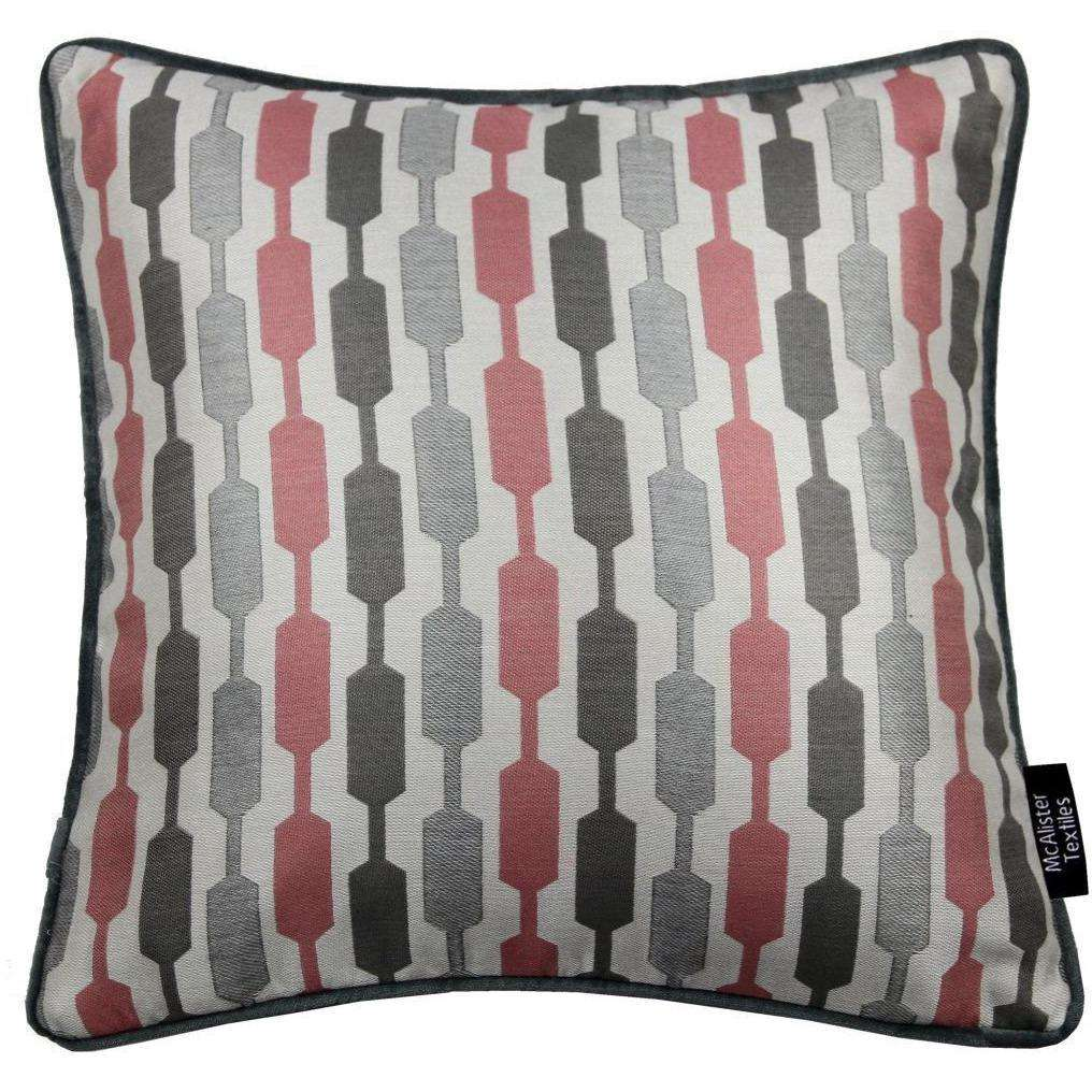McAlister Textiles Lotta Blush Pink + Grey Cushion Cushions and Covers Cover Only 43cm x 43cm
