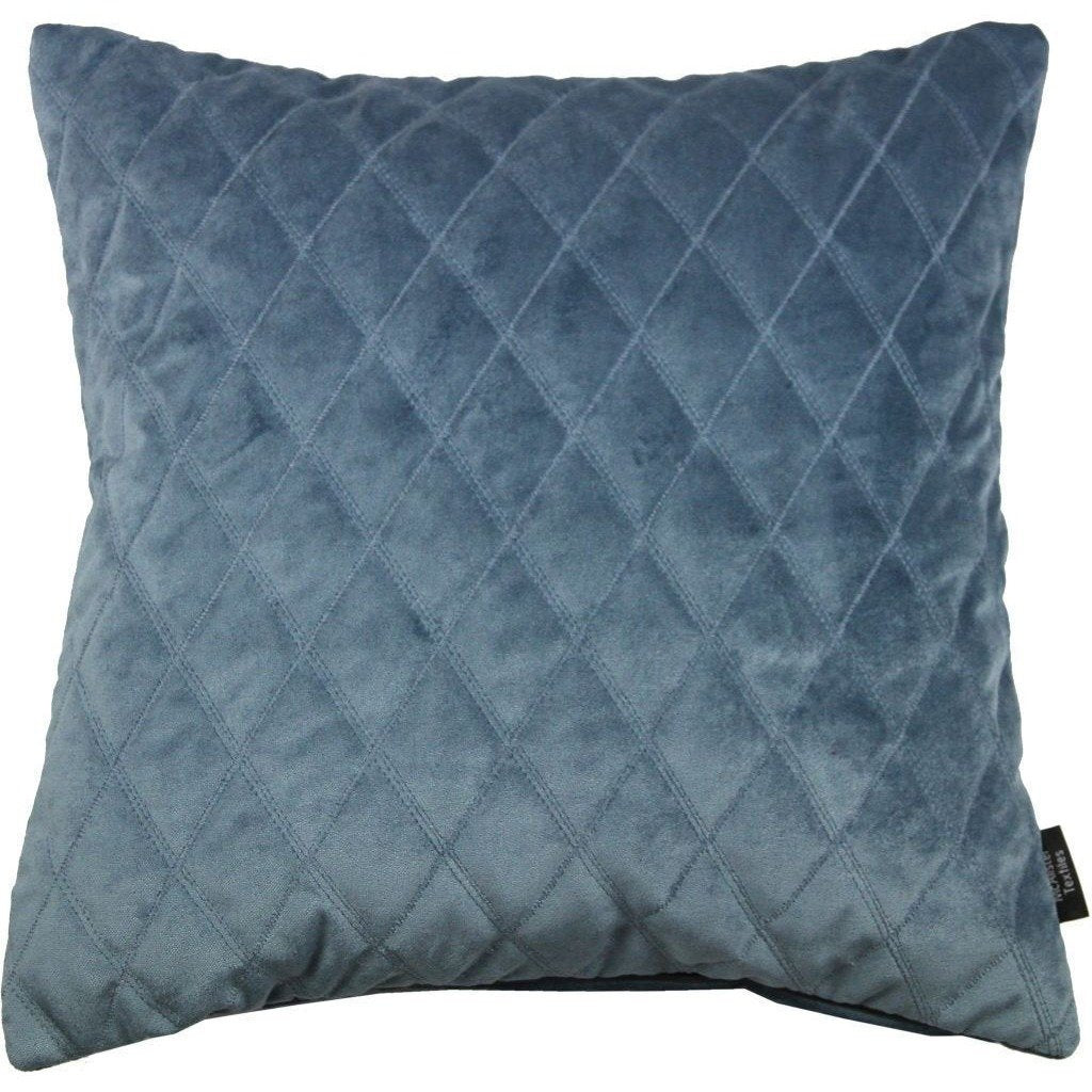 McAlister Textiles Diamond Quilted Dark Blue Velvet Pillow Pillow