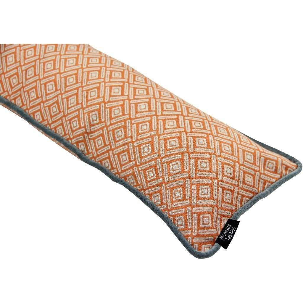 McAlister Textiles Elva Geometric Burnt Orange Draught Excluder Draught Excluders