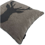 Load image into Gallery viewer, McAlister Textiles Stag Charcoal Grey Tartan 43cm x 43cm Cushion Set Cushions and Covers