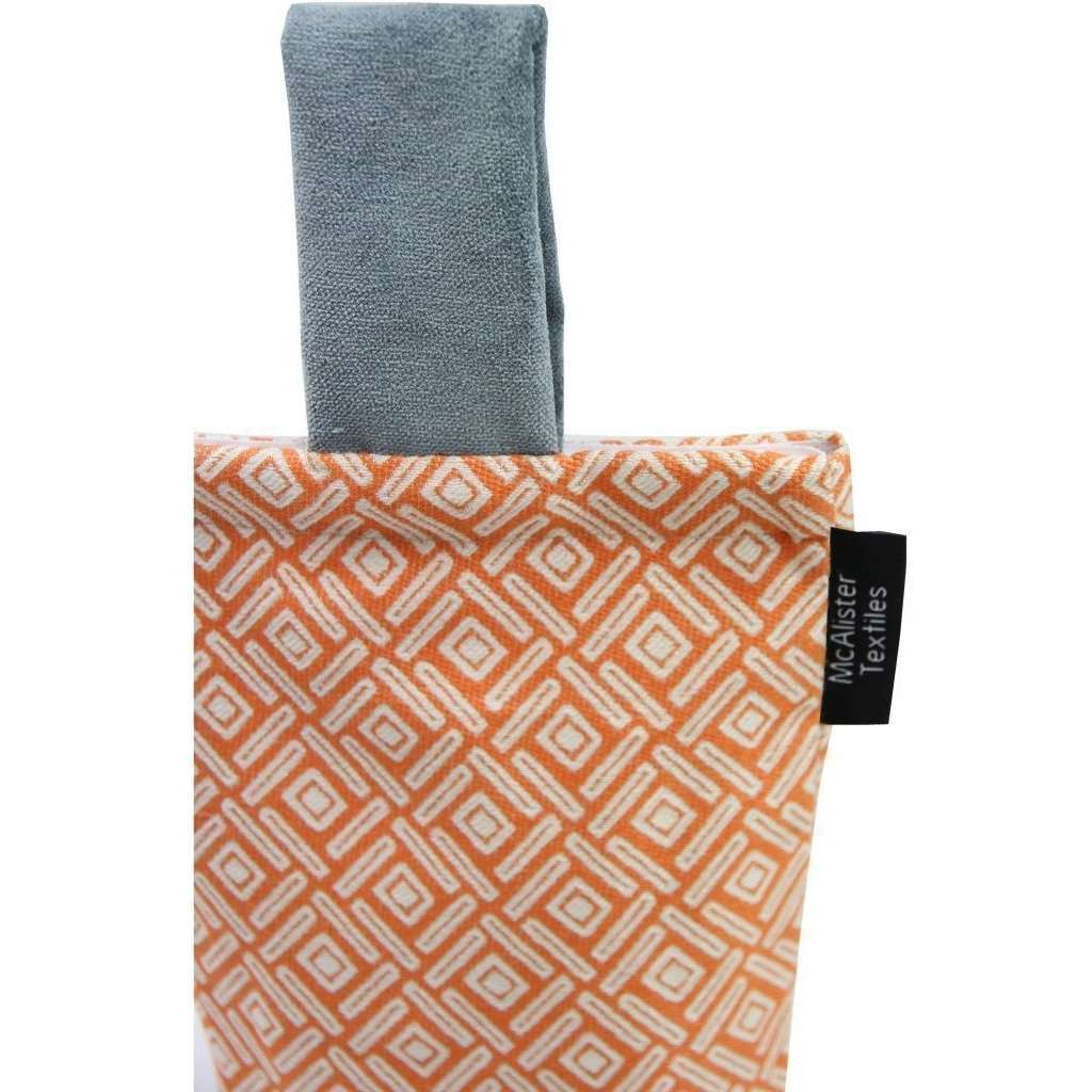 McAlister Textiles Elva Geometric Burnt Orange Door Stop Doorstops