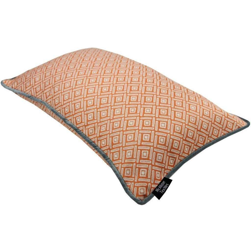 McAlister Textiles Elva Geometric Burnt Orange Pillow Pillow