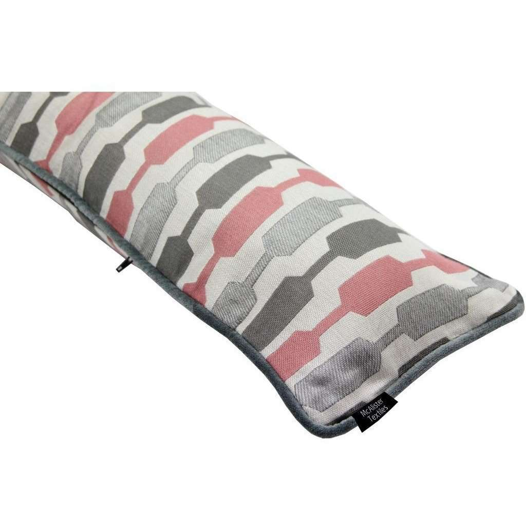 McAlister Textiles Lotta Blush Pink + Grey Draught Excluder Draught Excluders
