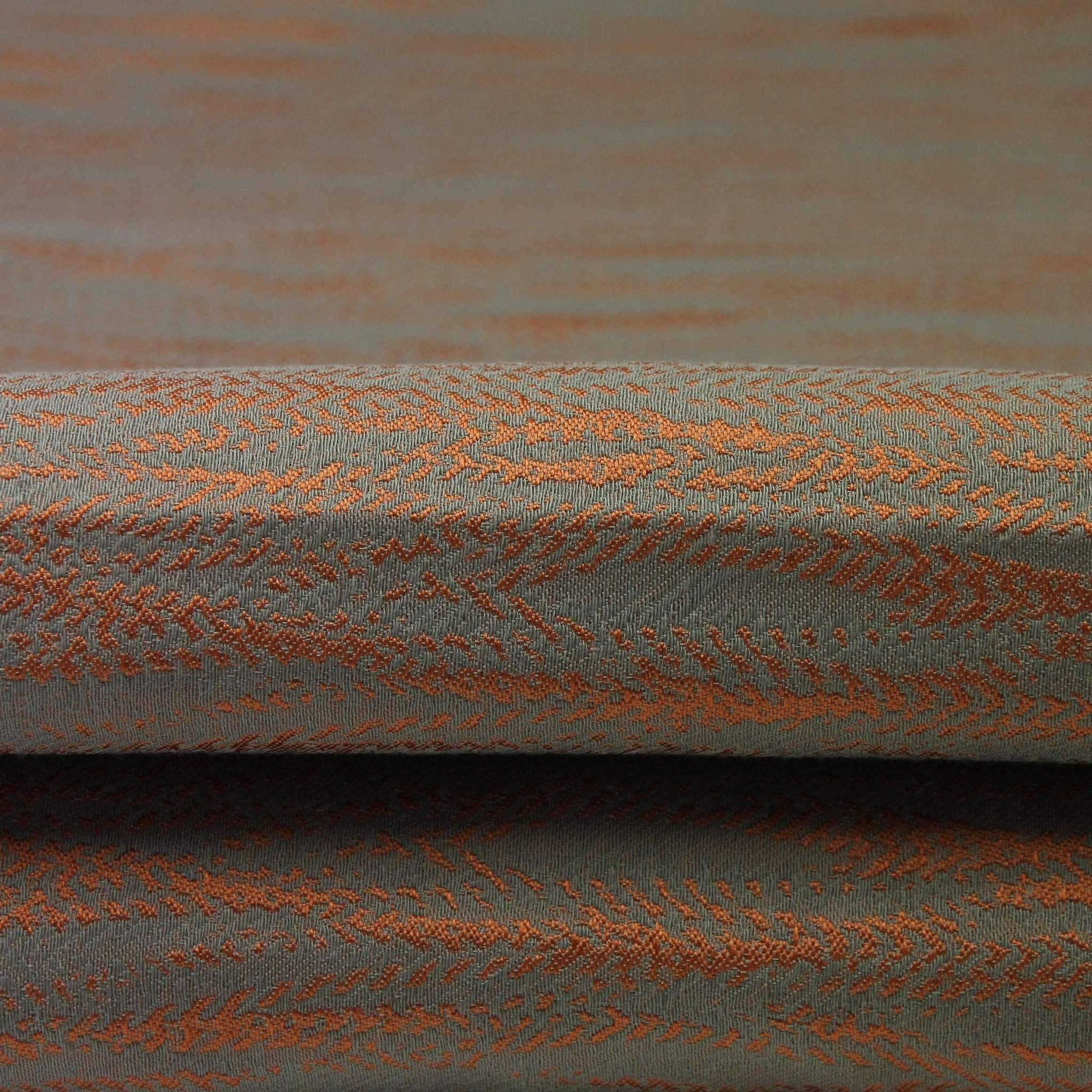 McAlister Textiles Lorne Fire Retardant Burnt Orange Fabric Fabrics