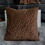 Carica l'immagine nel visualizzatore di Gallery, McAlister Textiles Round Quilted Mocha Brown Velvet Cushion Cushions and Covers
