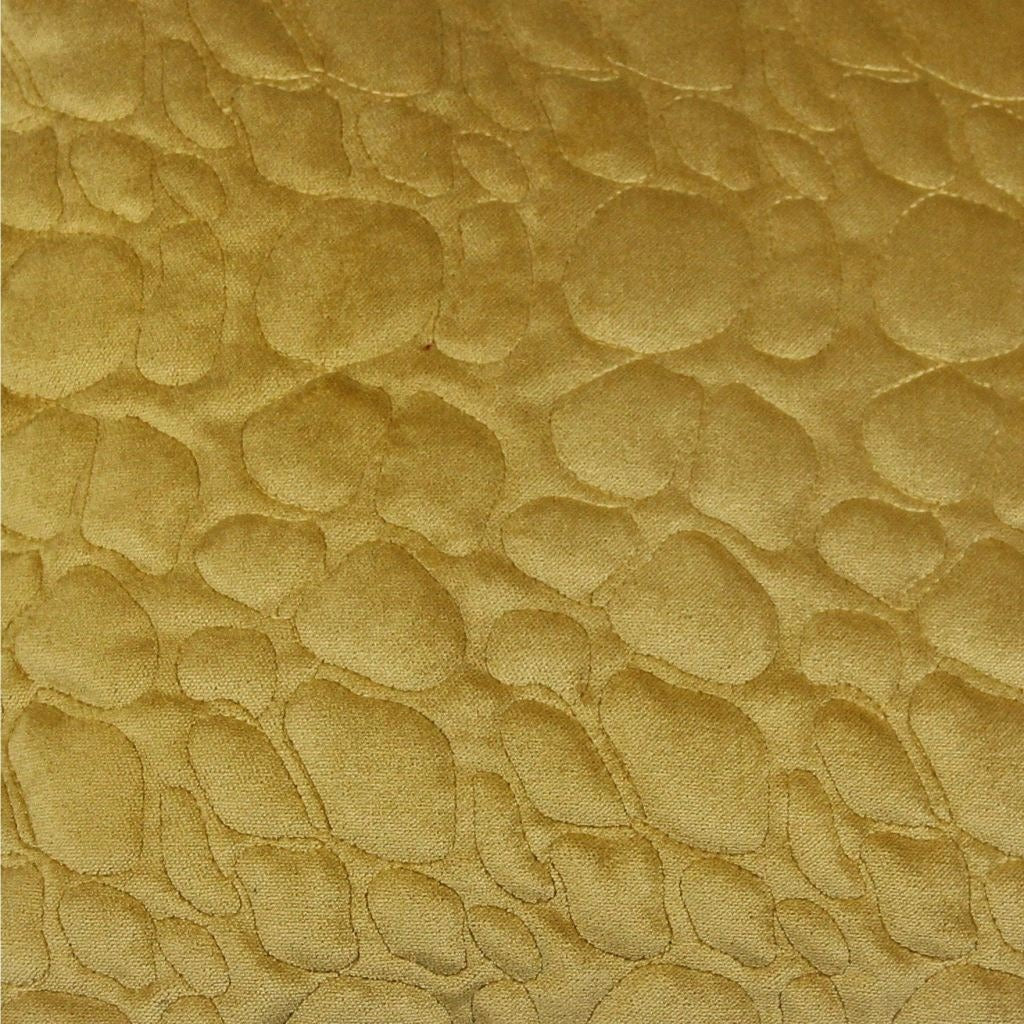 McAlister Textiles Pebble Quilted Yellow Gold Velvet Pillow Pillow