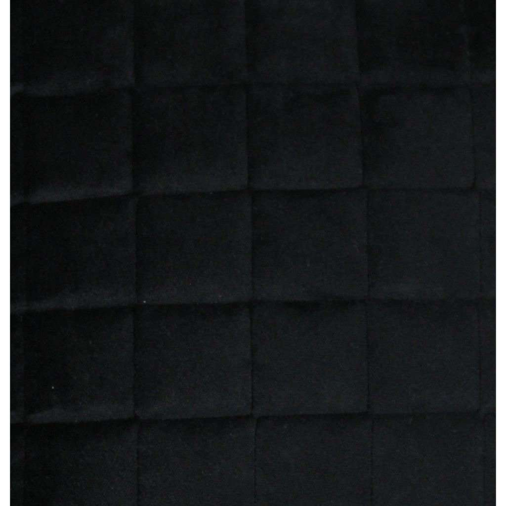 McAlister Textiles Square Quilted Black Velvet Pillow Pillow