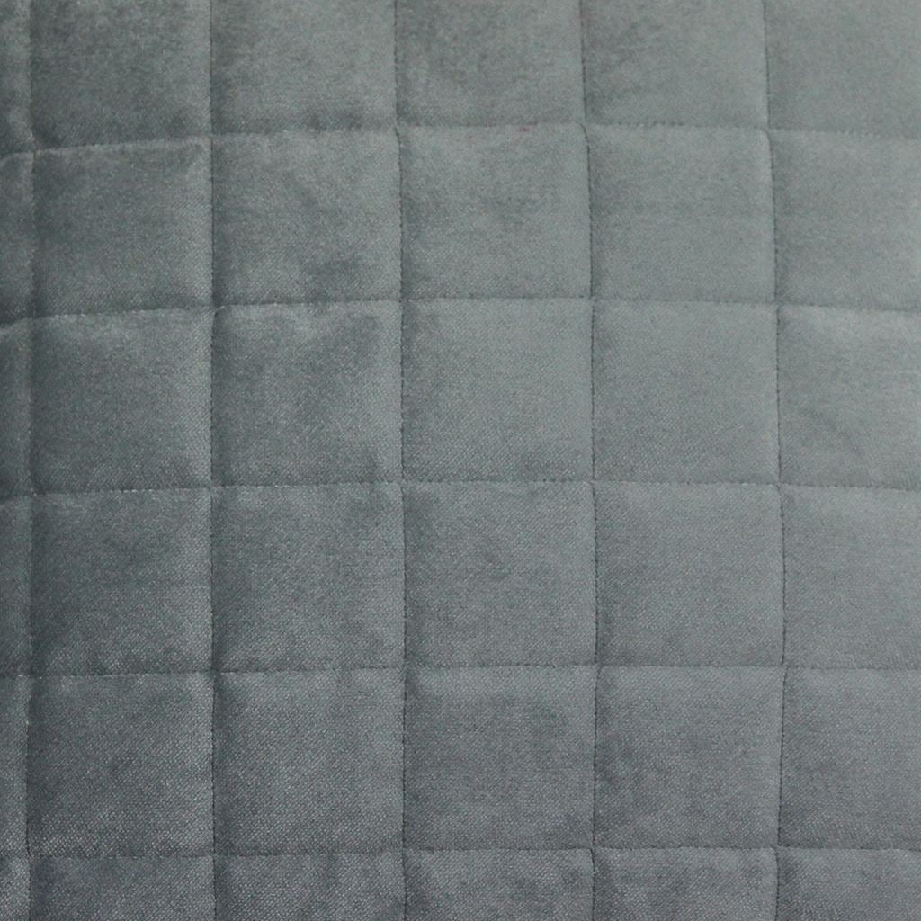 McAlister Textiles Square Quilted Silver Grey Velvet Pillow Pillow