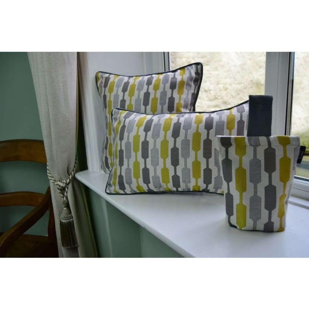 McAlister Textiles Lotta Yellow + Grey Door Stop Doorstops