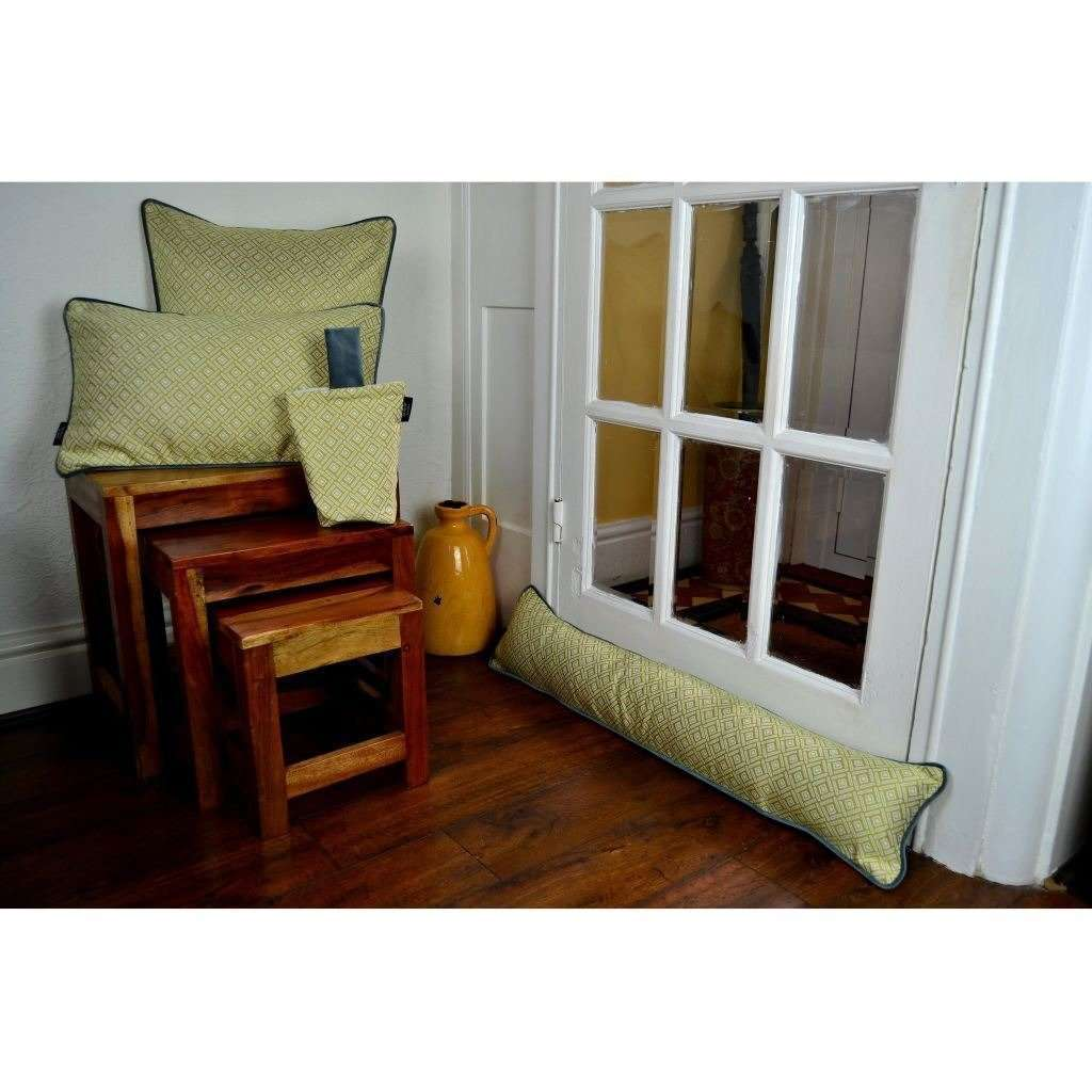 McAlister Textiles Elva Geometric Ochre Yellow Draught Excluder Draught Excluders