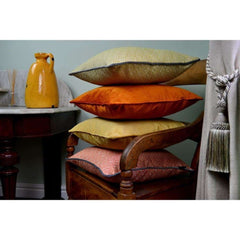 McAlister Textiles Elva Ochre Yellow Geometric Cushion-Cushions and Covers-