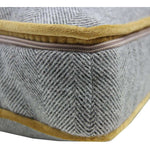 Load image into Gallery viewer, McAlister Textiles Deluxe Herringbone Grey + Yellow Box Cushion 43cm x 43cm x 3cm Box Cushions