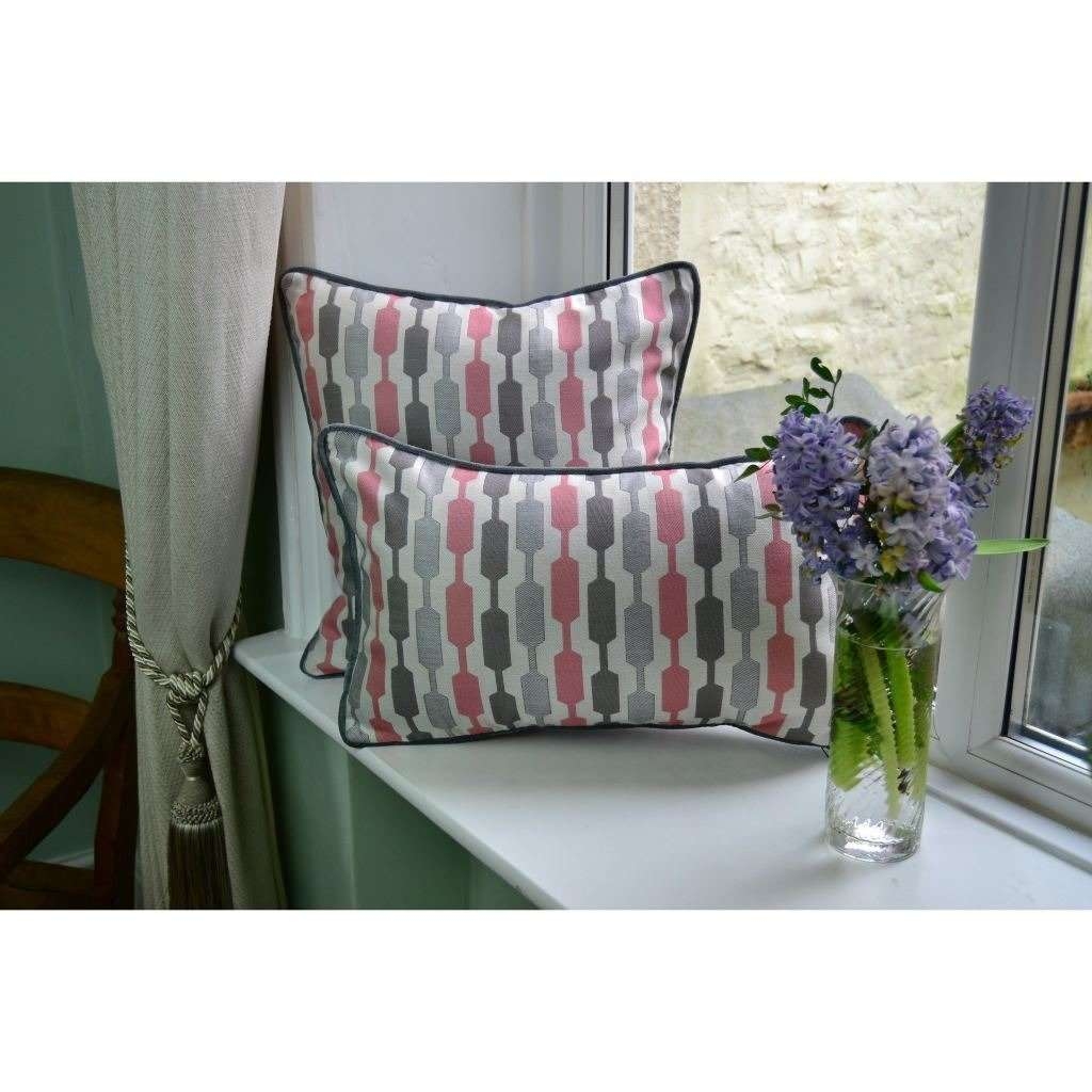McAlister Textiles Lotta Blush Pink + Grey Pillow Pillow