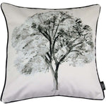 Cargar imagen en el visor de la galería, McAlister Textiles Novelty Black + White Tree Velvet Cushion Cushions and Covers Polyester Filler