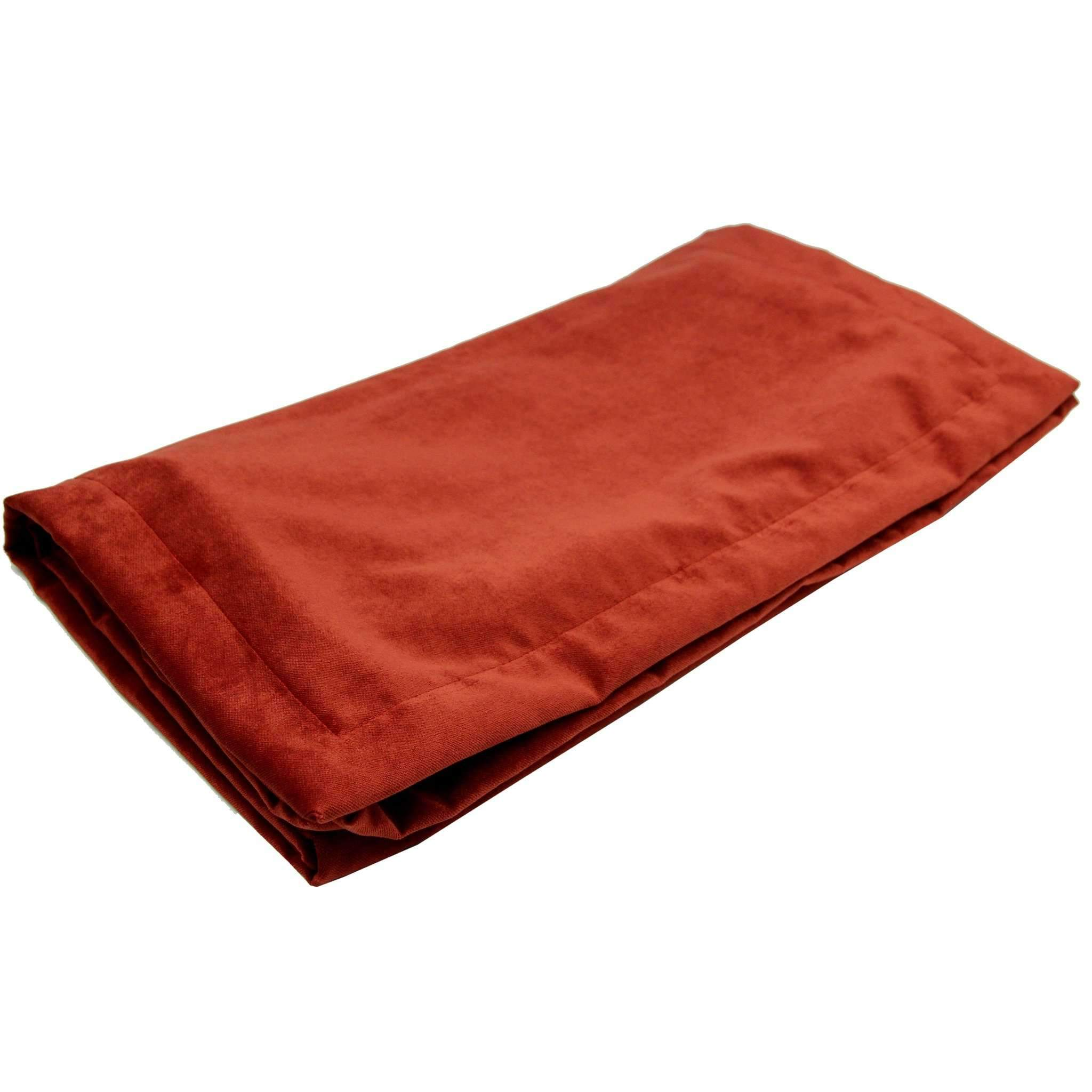 McAlister Textiles Matt Rust Red Orange Velvet Throw Blankets & Runners Throws and Runners Bed Runner (50cm x 240cm)