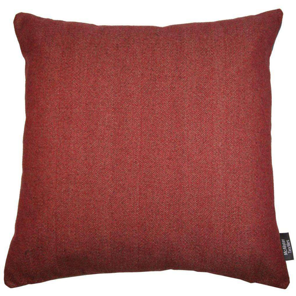McAlister Textiles Deluxe Herringbone Red Floor Cushion Floor Cushions
