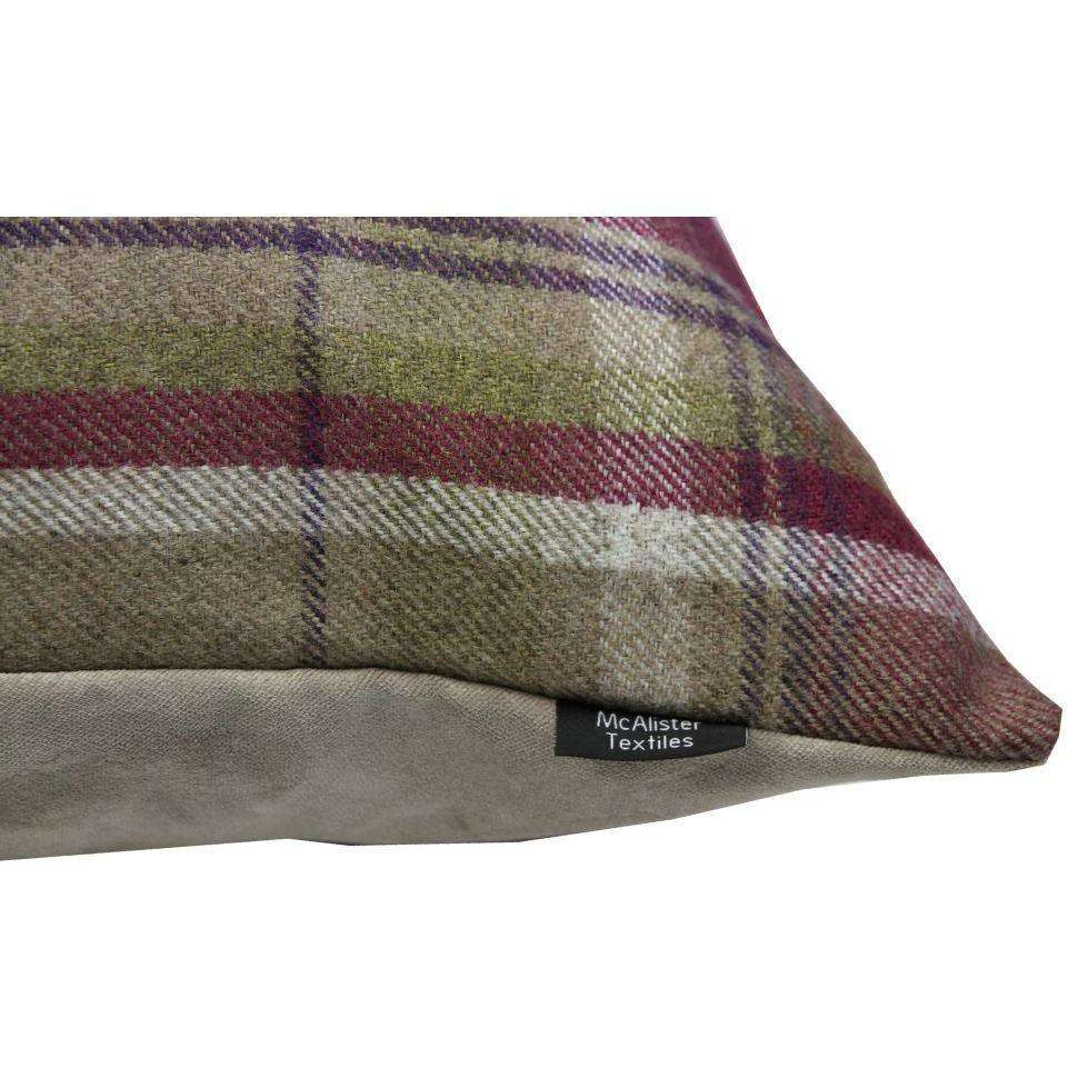 McAlister Textiles Deluxe Tartan Purple + Green 66cm x 66cm Floor Cushion Floor Cushions