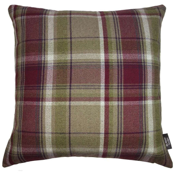 McAlister Textiles Deluxe Tartan Purple + Green Floor Cushion Floor Cushions