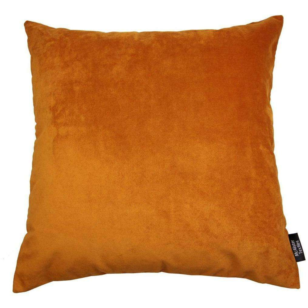 McAlister Textiles Deluxe Velvet Burnt Orange Floor Cushion Floor Cushions