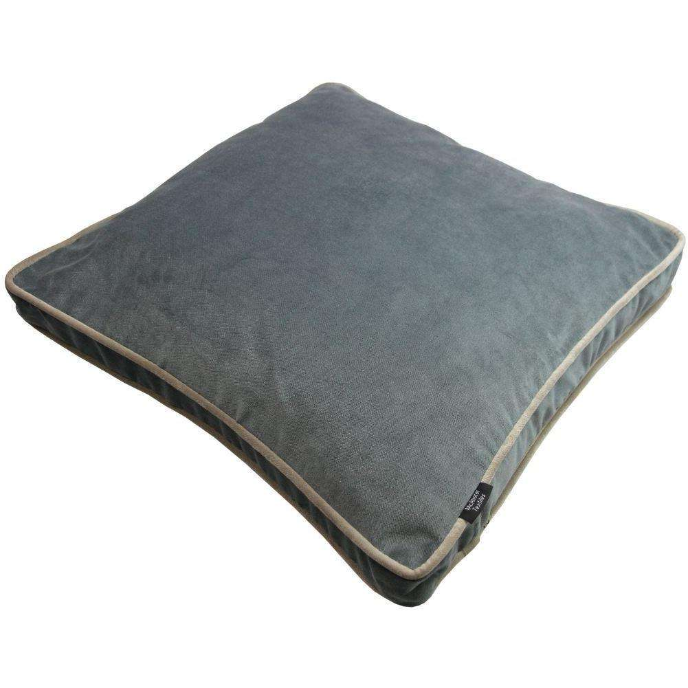 McAlister Textiles Deluxe Large Velvet Charcoal Grey Box Cushion Box Cushions