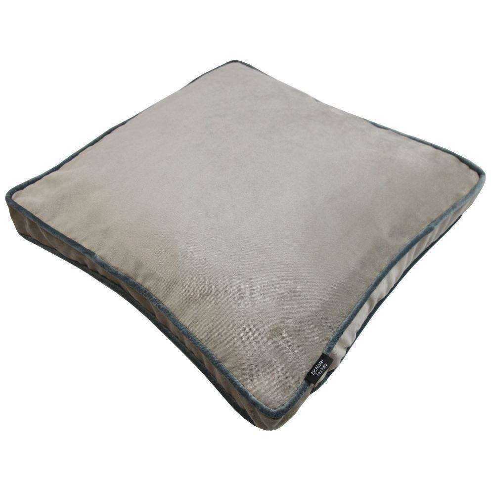 McAlister Textiles Deluxe Large Velvet Beige Mink Box Cushion Box Cushions