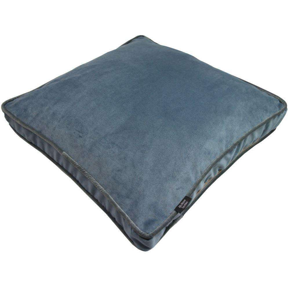 McAlister Textiles Deluxe Velvet Petrol Blue Box Cushion Box Cushions