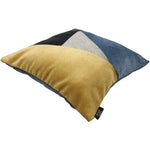 Cargar imagen en el visor de la galería, McAlister Textiles Triangle Patchwork Velvet Navy, Yellow + Grey Cushion Cushions and Covers