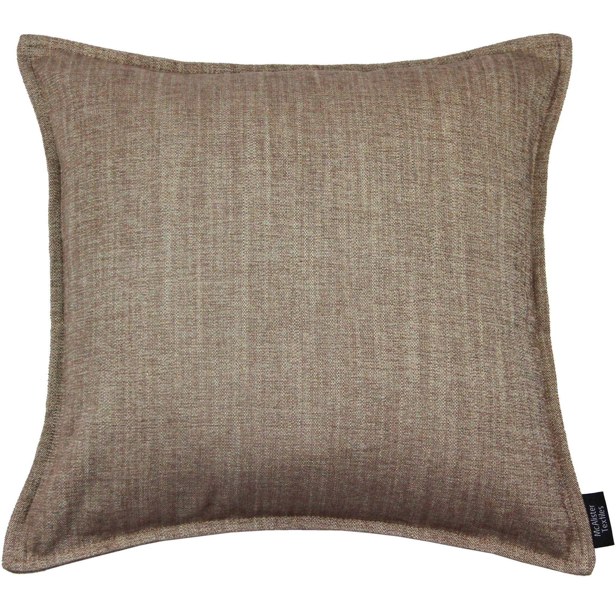 McAlister Textiles Rhumba Taupe Beige Pillow Pillow Cover Only 43cm x 43cm