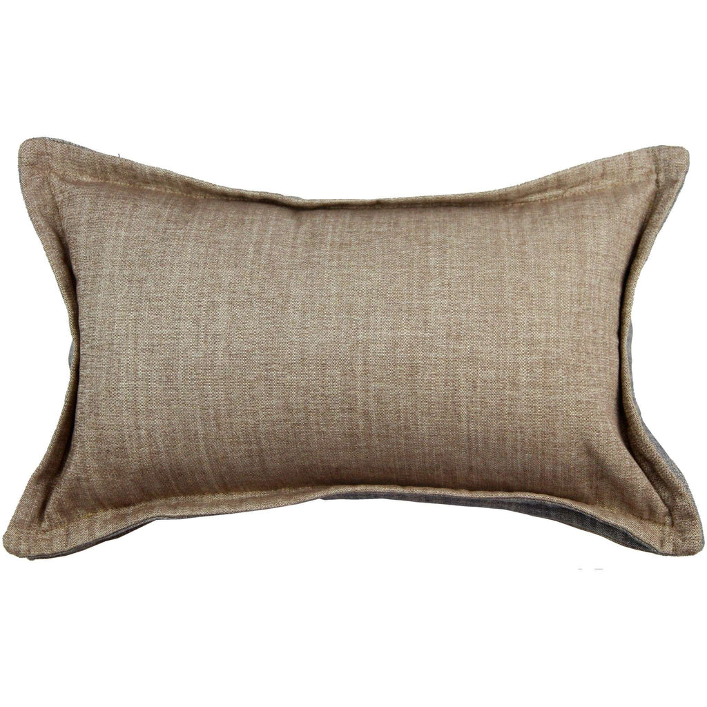 McAlister Textiles Rhumba Accent Taupe Beige + Grey Pillow Pillow